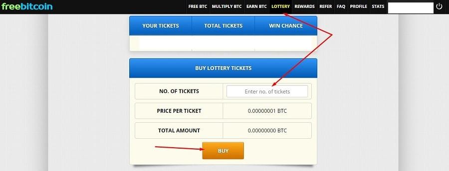инструкция по покупке лотерейных билетов